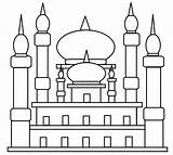Mosque Coloring Pages sketch template