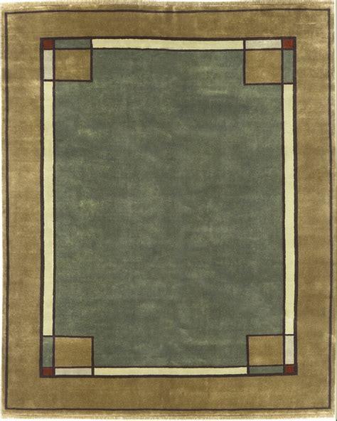ginkgo border rug pc   mission motif