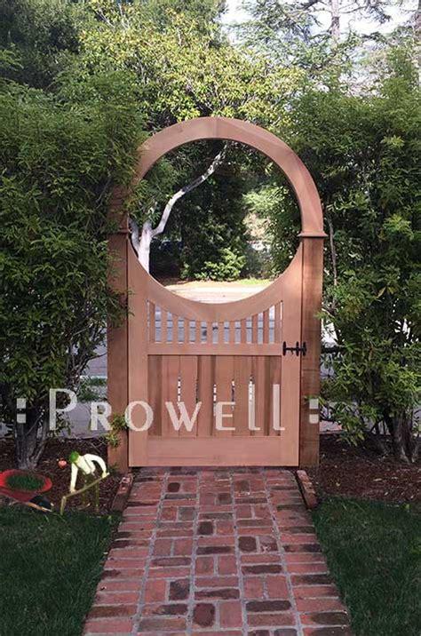 custom wood garden gate   prowell woodworks