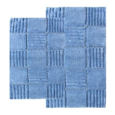 2 checkerboard bath rug set in smoke blue uvcm14569
