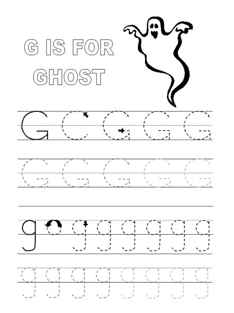 alphabet tracer pages kiddo shelter 740 | Alphabet Tracer Pages G