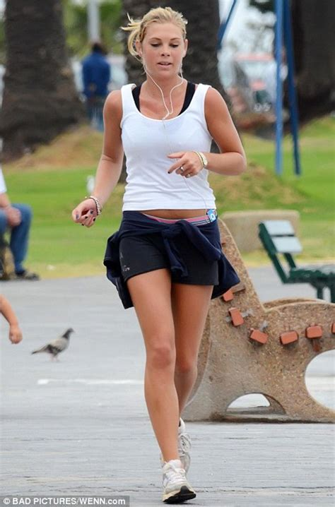 Chelsy Davy goes jogging as it is revealed she is expected to be Harry's wedding date | Daily ...