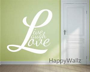 Motivational quote wall sticker live laugh love diy