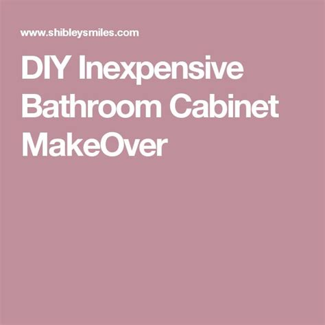 Diy Bathroom Cabinet Makeover by Best 25 Laminate Cabinet Makeover Ideas On