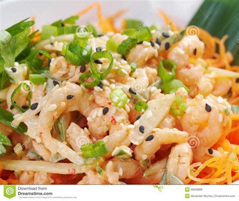 cuisines chinoises cuisine chinoise salad de crevette image stock image