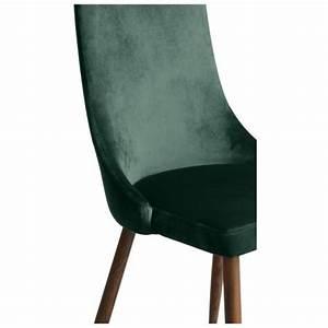 Chaise Scandinave Verte : chaise vinni en velours vert lot de 2 commandez nos ~ Teatrodelosmanantiales.com Idées de Décoration