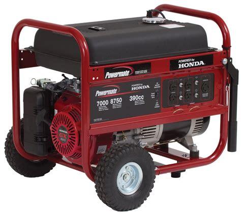 Powermate Portable Generator  Pm0497000, 8750 Watt, Honda