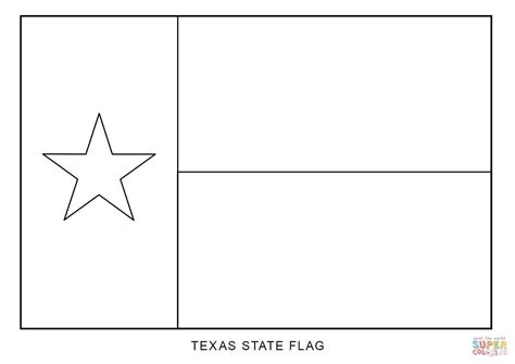 Texas State Flag Coloring Page Free Printable Coloring Pages