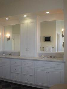 Decorating den interiors susan sutherlin vanity towers for Bathroom vanities with storage towers