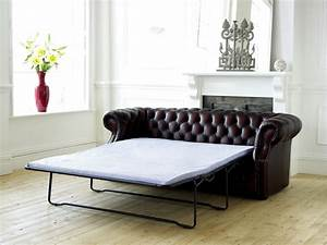 Leather chesterfield sofa bed richmond for Leather sofa bed