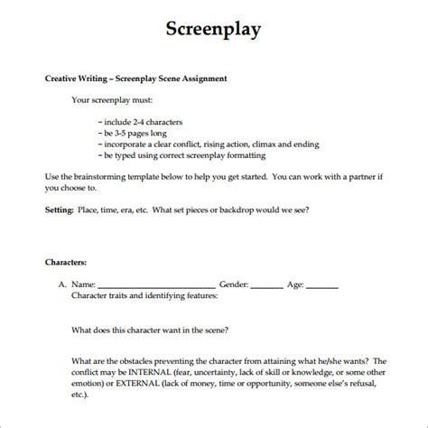 screenwriting templates 6 screenplay sles sle templates