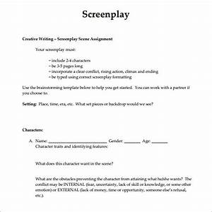 6 screenplay samples sample templates With screenwriting templates