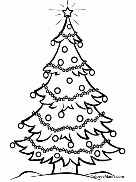 colorear rbol de navidad 5 navidad dibujo para colorear gratis - Dibujos De ã Rbol De Navidad