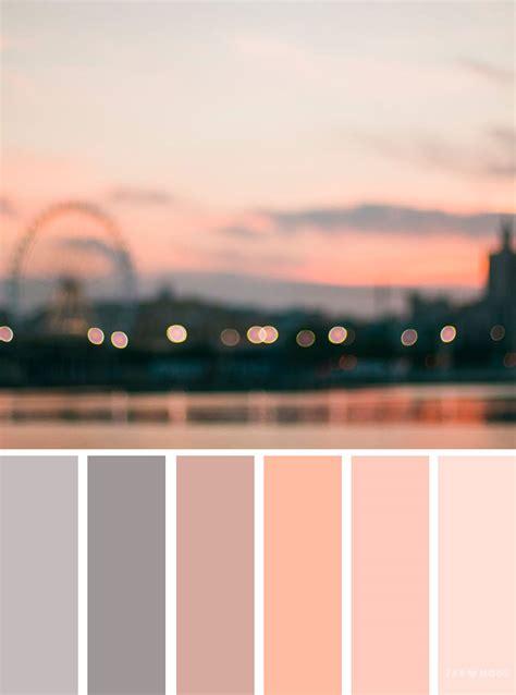 grey  peach color scheme sunset color inspiration