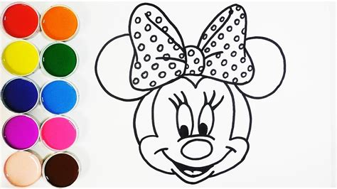 dibujar  colorear  minnie mouse dibujos  ninos learns colors funkeep youtube
