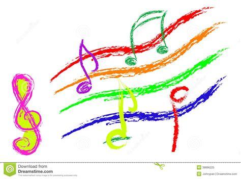 musik merkt skizze stock abbildung illustration von