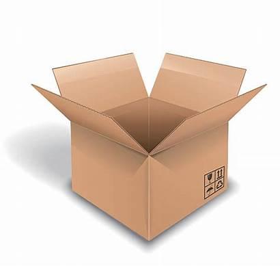 Box Inside Cardboard Clip Vector Empty Illustrations