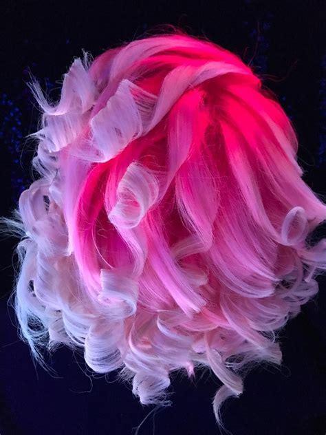 neon pink hair    jellyfish  black
