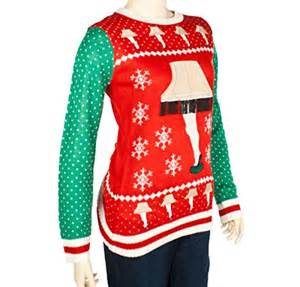 women s leg l major award sweater red green ugly