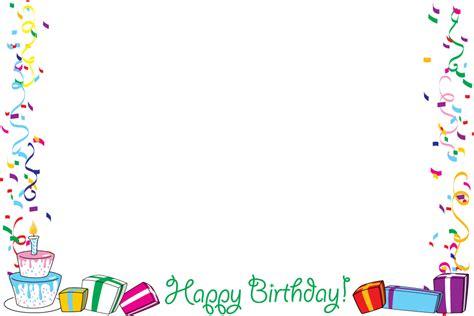 happy birthday borders clipartpost