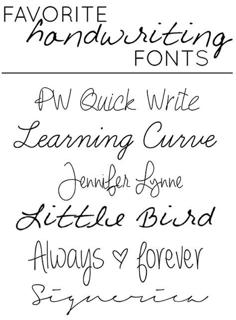 "Favorite ""handwriting"" style fonts! | Handwriting styles"