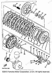 Yamaha Motorcycle 1983 Oem Parts Diagram For Clutch