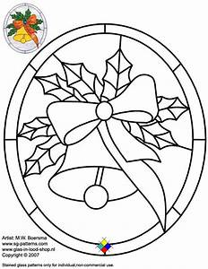 Stained glass patterns for free glass pattern 054 for Christmas stained glass window templates