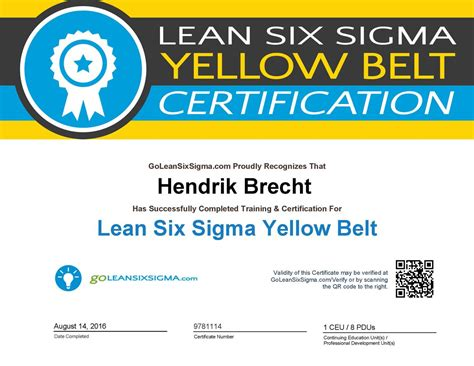 Lean Six Sigma Green Belt Resume by Lean Six Sigma Green Belt Certification Resume 28 Images Goleansixsigma Yellow Belt