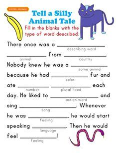 fill   blanks story  images worksheets
