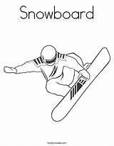 Coloring Snowboard Shaun Snowboarder Outline Noodle Rocks Usa Winter Twistynoodle Built California Login Twisty Favorites Cursive sketch template