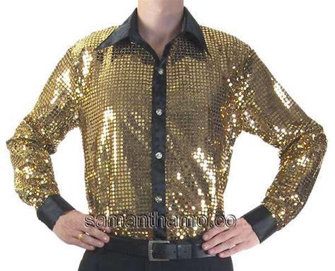 shirt stage gold sequin dance entertainers cabaret clothing jackson diamond michael neil
