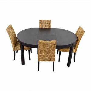 Set Table Rond : 66 off macy 39 s ikea round black dining table set with four chairs tables ~ Teatrodelosmanantiales.com Idées de Décoration