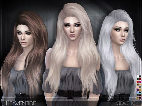 sims  hairs stealthic heaventide hairstyle
