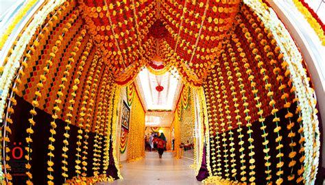 indian wedding entrance walkway decor ideas