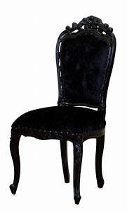 Chaise Velours Noir : chaise baroque ~ Teatrodelosmanantiales.com Idées de Décoration