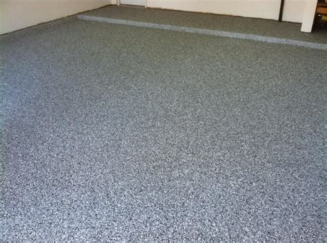 garage floor paint chips garage epoxy chip flooring before after solid impressions