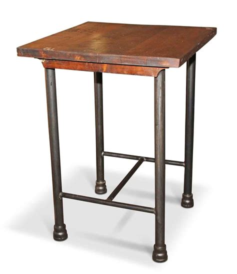 square kitchen island  tall side table olde good