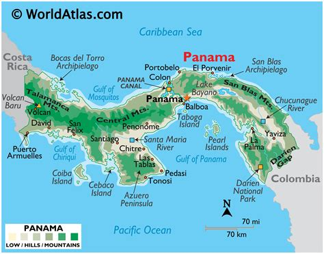Panama Large Color Map - Central America Countries, Color ...