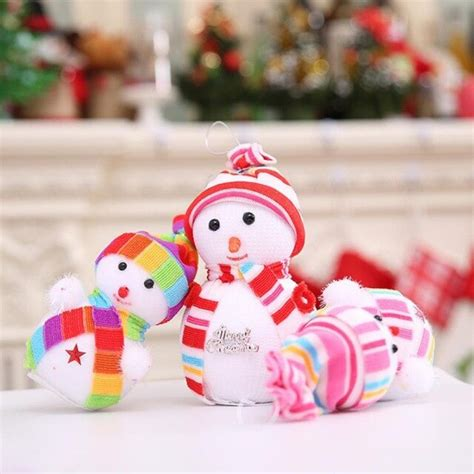 lucu gelembung kecil boneka salju natal hadiah natal pohon natal hanging dekorasi partai