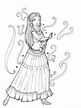 Gypsy Coloring Pages Deviantart Cigana Sketch Dance Template Tattoo Bailando Para Desenho Colorir Adult Adults sketch template