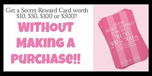 FREE Victoria Secret Reward Card WORTH at LEAST $10 (NO ...