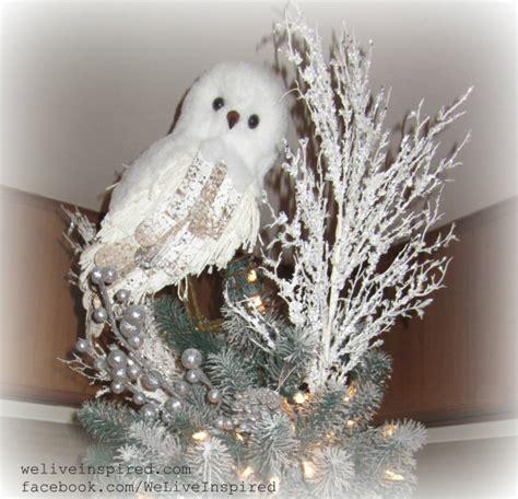 classy christmas decor  snowy owl tree topper