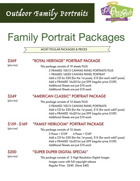 lil angels photography family portraits packages pricing