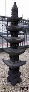 Grande Lanterne Exterieur : lanterne 5 tages en pierre de lave h 157 ou 159 cm ~ Teatrodelosmanantiales.com Idées de Décoration