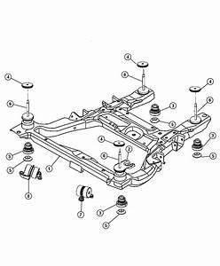 Chrysler Pacifica Isolator  Cradle  Crossmember
