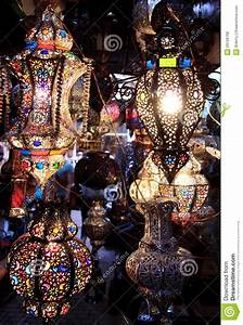 Colorful Moroccan Lamps At Night Royalty Free Stock Photos ...