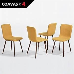 Küchentisch Mit Stühle : set von 4 esszimmerst hlen coavas stoff kissen k chentisch st hle mit stabilen metall beine f r ~ Markanthonyermac.com Haus und Dekorationen