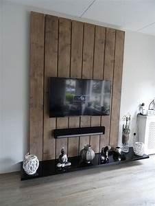Tv Wandpaneel Holz : 25 beste idee n over tv wand ontwerp op pinterest binnenshuise stenen muren ~ Markanthonyermac.com Haus und Dekorationen