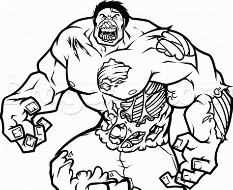 zombie hulk coloring page  printable coloring pages