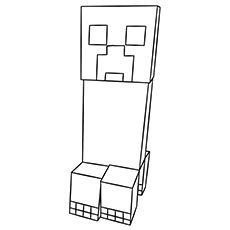printable minecraft coloring pages  toddlers